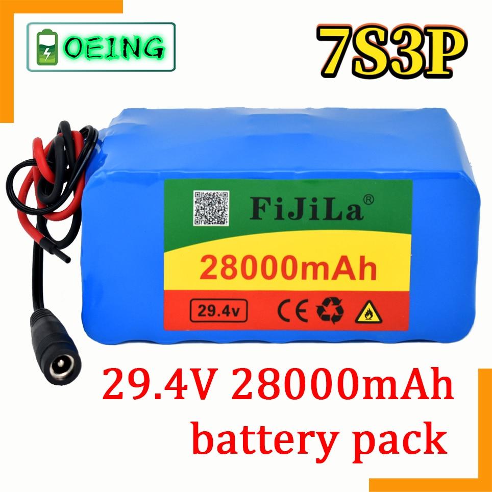 2021 جديد 7s3p 18650 بطارية ليثيوم بطارية 29.4 فولت 28000mah دراجة كهربائية الدراجة الكهربائية بطارية أيون الليثيوم حزمة