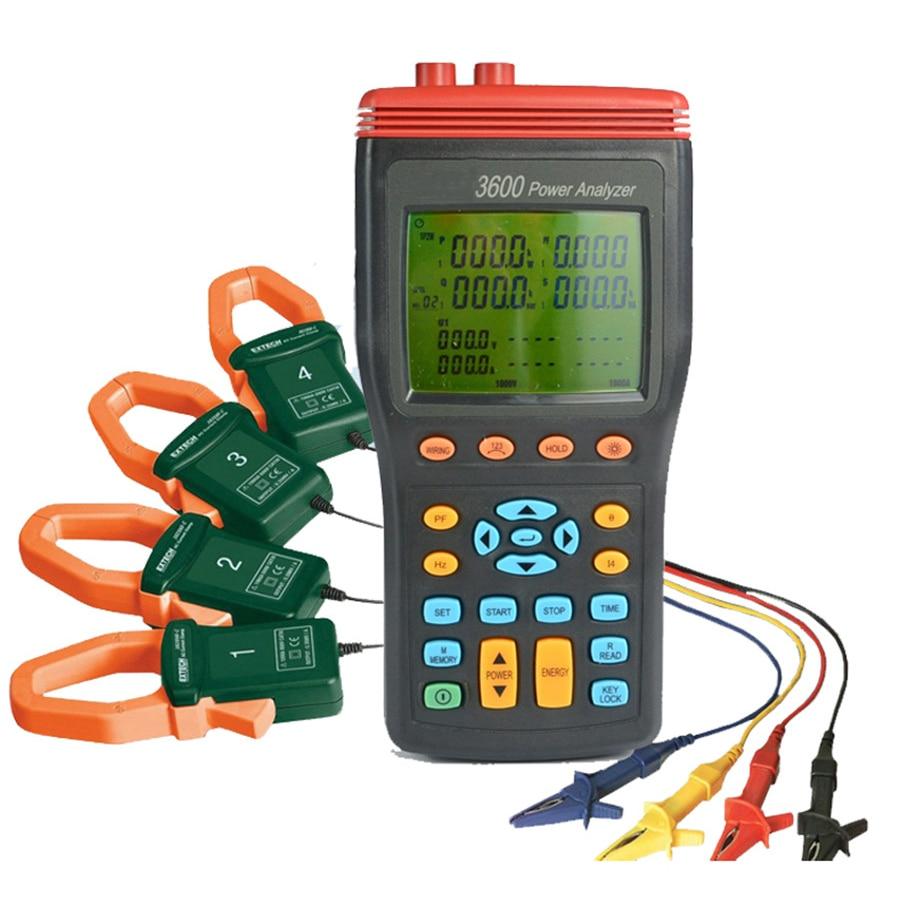 TES-3600 3P4W Power Quality Analyzer Power KW, KVAR, KVA, PF,Hz, & Energy KWh, KVARh & KVAh Measurement,3 Phase Power Analyzer.