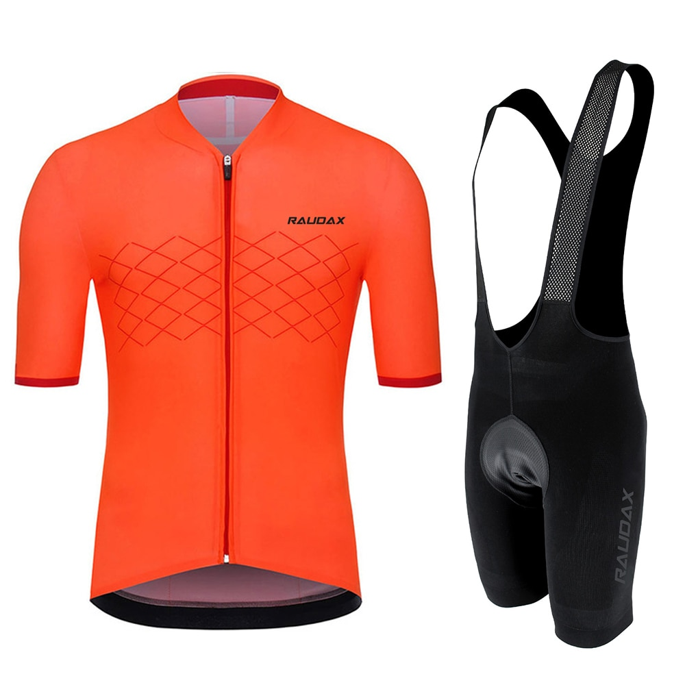 Raudax-Camiseta de Ciclismo para el verano, conjunto de Ropa transpirable para Ciclismo de montaña, Maillot, Ropa de Ciclismo para Hombre, 2020