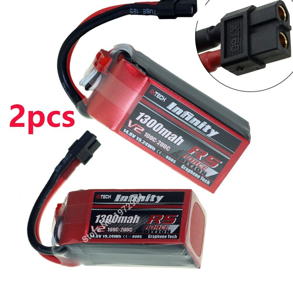 1 uds/2 uds Infinity 4S 14,8 V 1300mAh 100C RS V2 serie Lipo batería grafeno XT60 SY60 Plug soporte 15C RC boostering