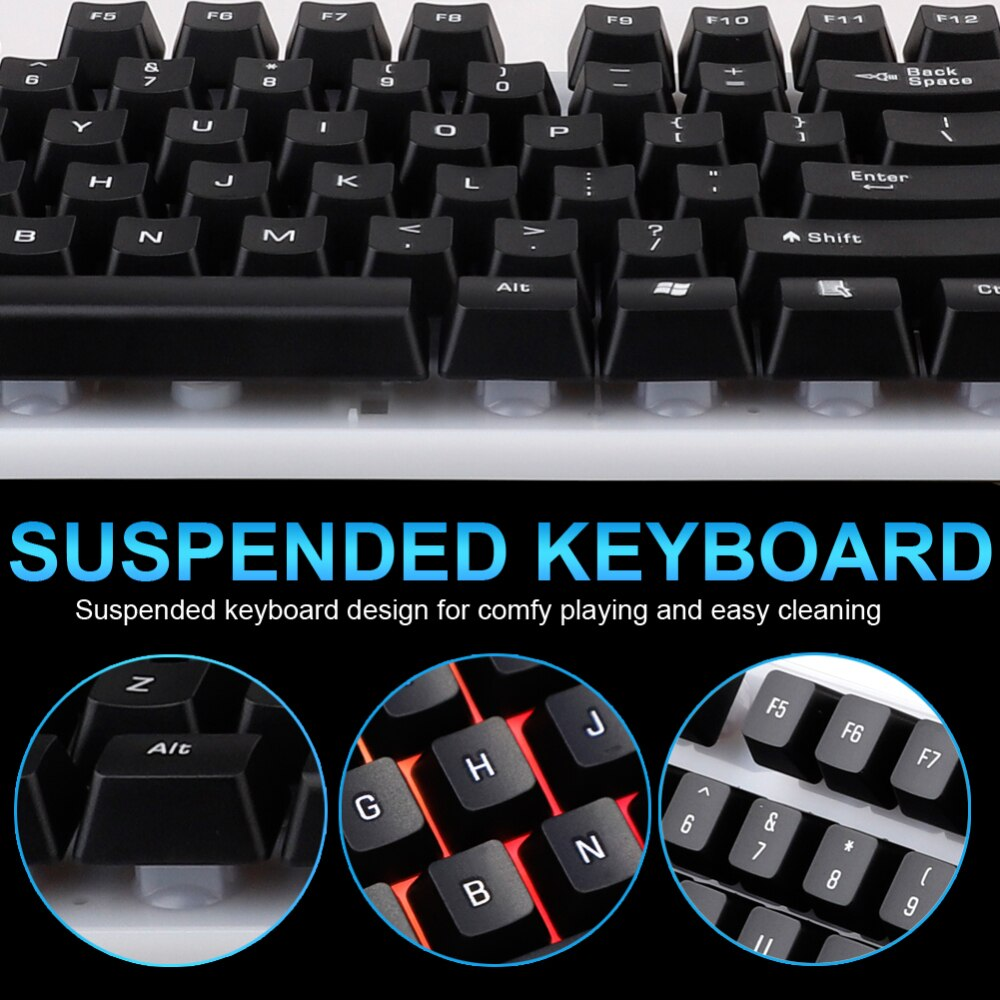 Gaming Keyboard Mouse Set USB Backlight Keyboards 104 Keycaps Wired Keyboards Waterproof Computer Accessories For PC laptop 2020 enlarge