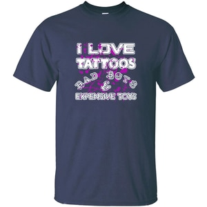 Индивидуальные я люблю татуировки Bad Boys & Amp; дорогие игрушки футболка черные мужские рубашки хлопок хип-хоп