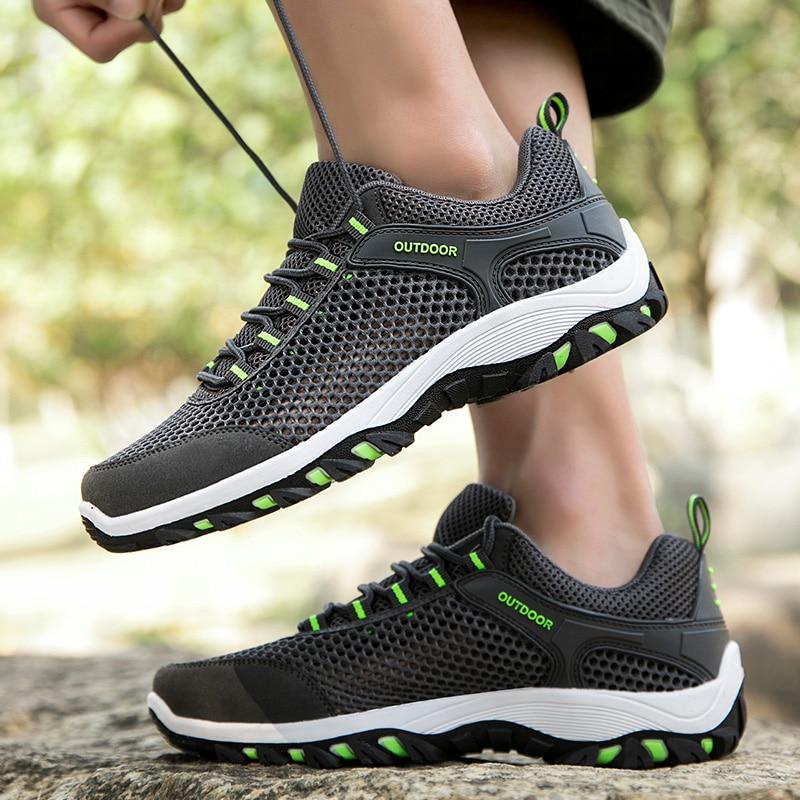 Мужская дышащая обувь для бега, легкая спортивная обувь для бега, противоскользящие повседневные кроссовки для бега, большие размеры, Уличн...