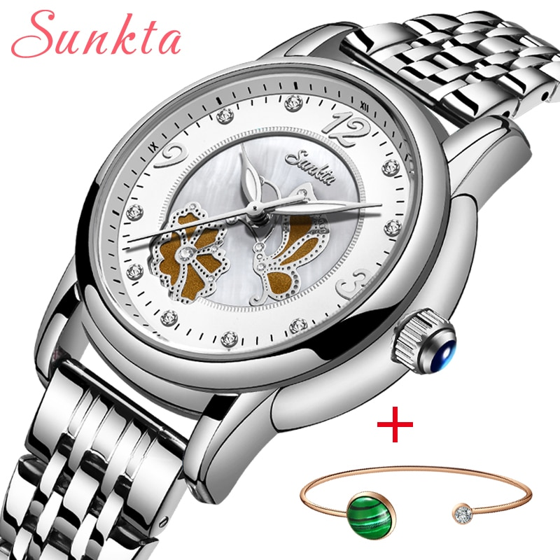 SUNKTA Women Watches Women Luxury Brand Bracelet Dress Watch Sport Femme Gifts Diamond Watches For Women Clocks Relogio Feminino enlarge