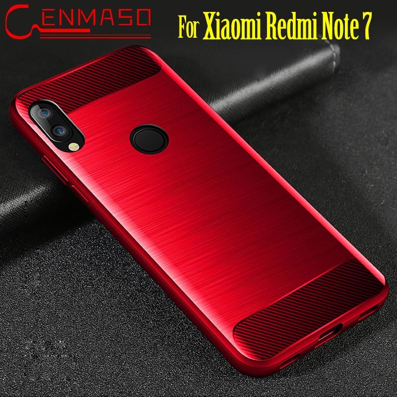 Para Xiaomi Redmi Note 7 funda trasera para Xiaomi Redmi note7 textura de fibra de carbono ultra delgada mate funda protectora capa