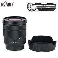Anti-Scratch Lens Protective Skin Film For Sony Vario-Tessar T FE 16-35mm F4 ZA OSS SEL1635Z & ALC-SH134 Lens Hood 3M Sticker