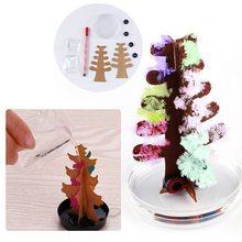 Arbre de noël magique floraison cristal arbre magique Mini décorations darbre de noël enfants jouet cadeau de noël