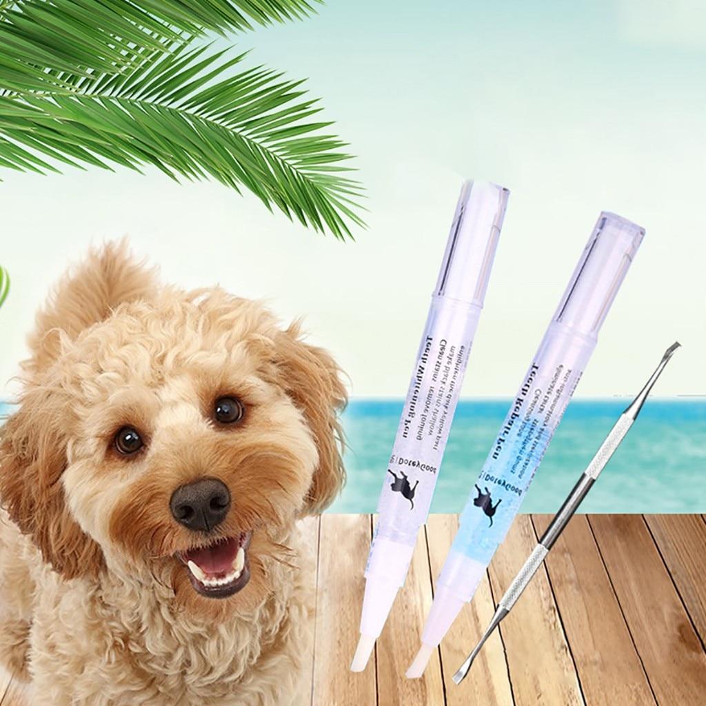 Pet Teeth Cleaning Repair Kit Dog Cat Tartar Dental Stone Cleaning Pen 5ml Dogs Teeth Whitening Pen Kit FH5