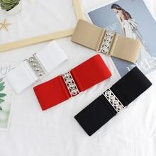 Retro Belt Trend Simple Youth Belt Decoration Casual Belts New Fashion Designer Design Elastic Wide Women's Belt