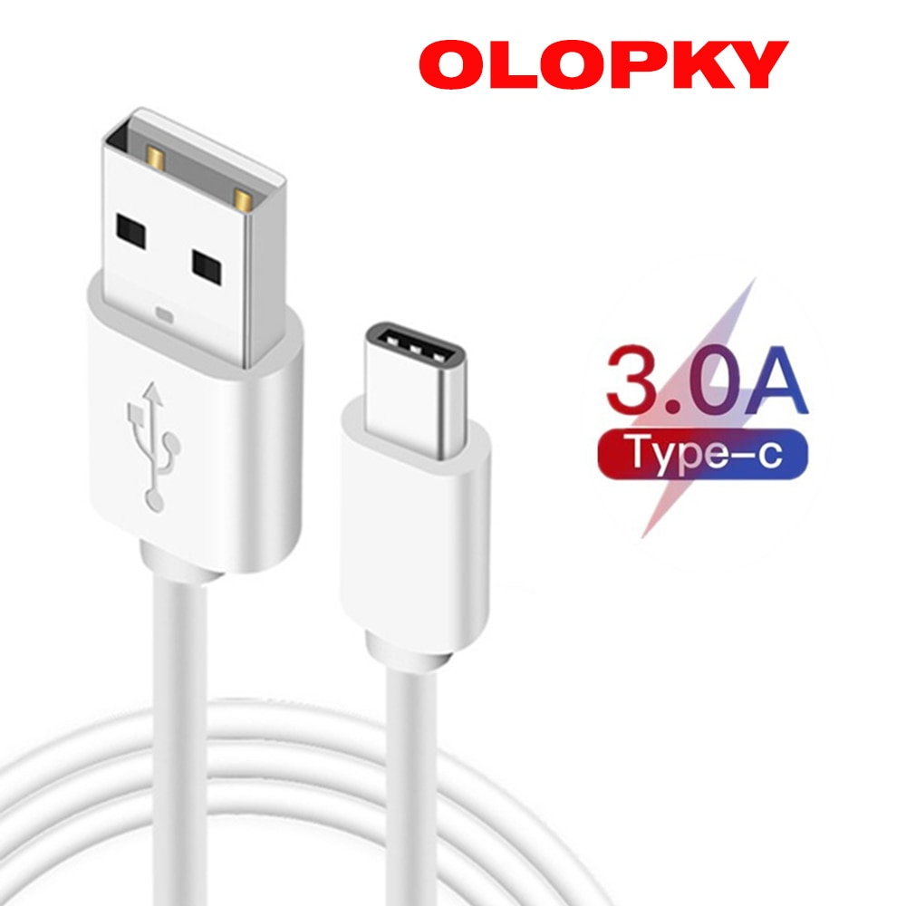 Cable USB tipo C para Samsung S10, S9, carga 3,0, Huawei P30,...