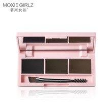 MOXIE GIRLZ Dreidimensionale tricolor augenbraue pulver ist wasserdicht, schweiß-proof, langlebig und einfach zu gelten make-up