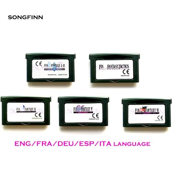 ENG/FRA/DEU/ESP/ITA sprache EUR Version für 32 Bit Video Spiel Patrone Konsole Karte UNS/EU Version-Fin Fantasy Series