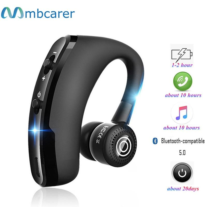 Беспроводные Bluetooth-наушники V9, гарнитура с микрофоном для звонков, спортивные наушники для всех смартфонов