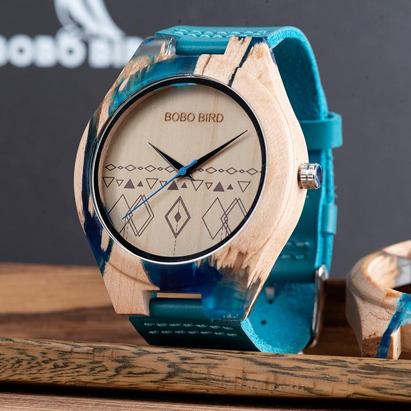 BOBO BIRD Relogio Masculino, reloj de pulsera de madera para hombre, reloj de pulsera de cuarzo, relojes para hombre, se acepta logotipo personalizado para él, regalo ecológico