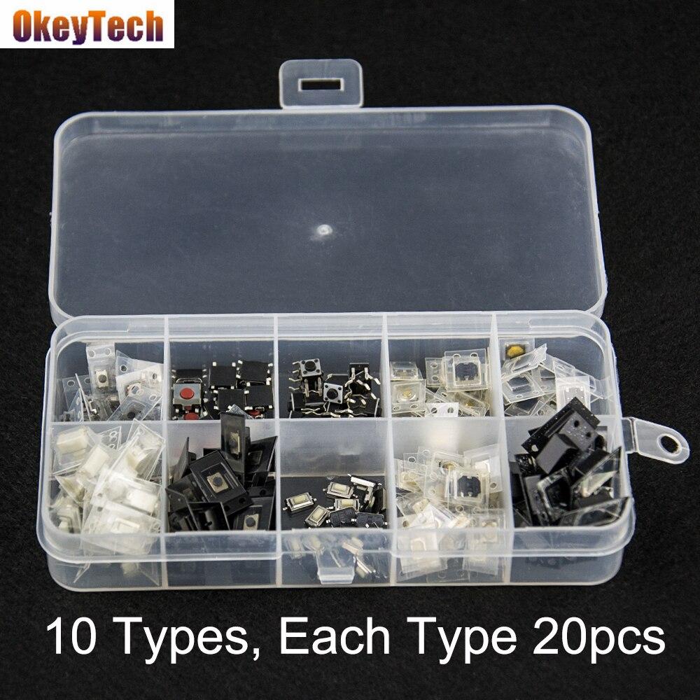 OkeyTech High Quality 200PCS/Lot Car key Micro Switches for Hyundai Nissan Honda Toyota Kia Auto Key Accessories