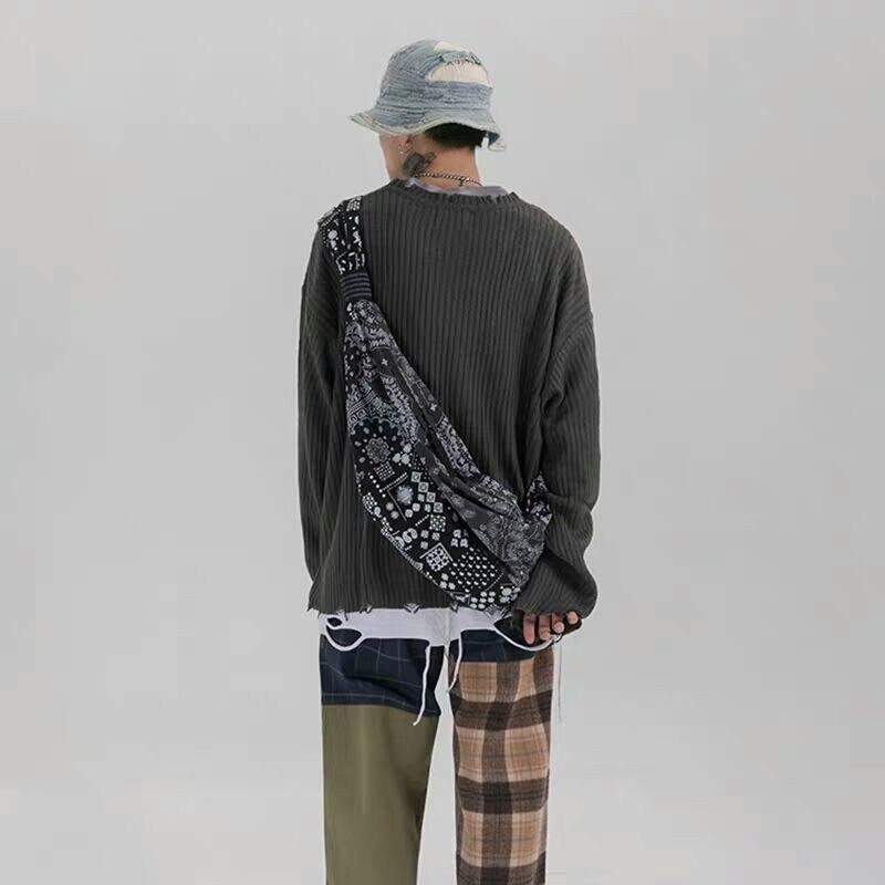 NiceMix 2020 harajuku koren женская сумка через плечо сумки для женщин хип-хоп Национальный Стиль Лоскутные сумки для пар рисунок кешью