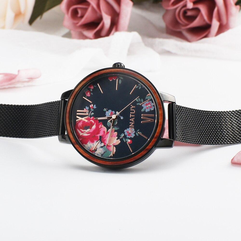 Hnatuy Women Watches Top Brand Luxury Stainless Steel Strap Wristwatch for Women Chinoiserie Clock Stylish Quartz Ladies Watch enlarge
