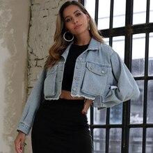 Mode Denim veste femmes manteau femmes à manches longues bouton court veste décontracté manteau Outwear vente en gros livraison gratuite