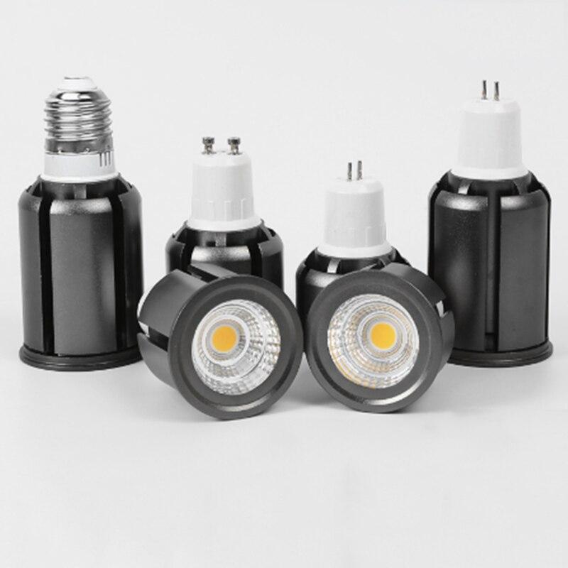 Super Bright Dimmable GU10 GU5.3 E27 COB 7W 10W 12W LED Bulbs Lamp AC110V 220V LED Spotlights Warm White/Cold White LED Lighting