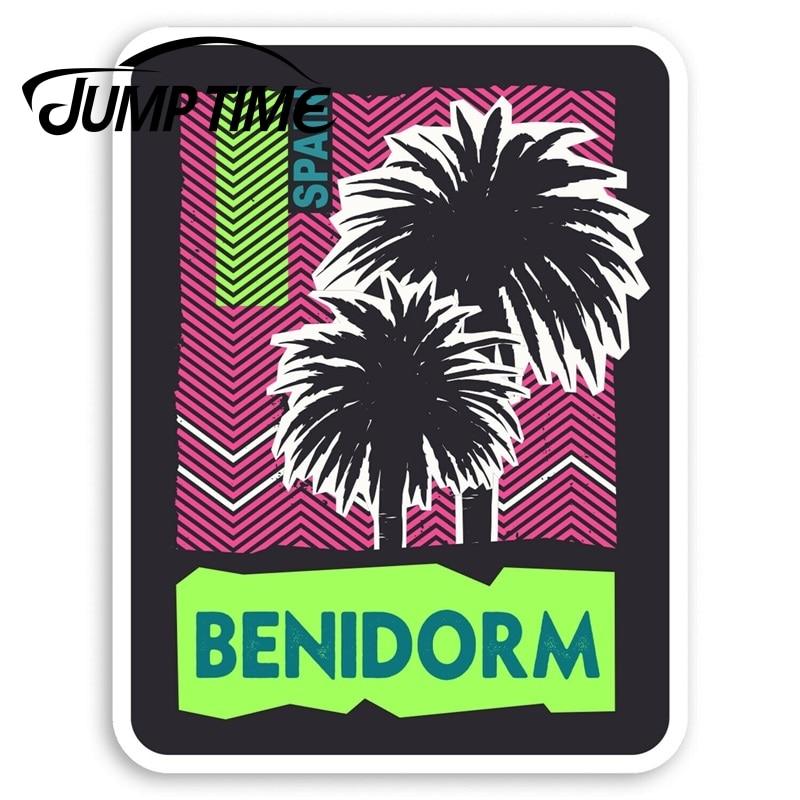Jump Time Benidorm Spain Vinyl Stickers - Travel Holiday Sticker LuggageDecal Car Window Bumper Car Accessories