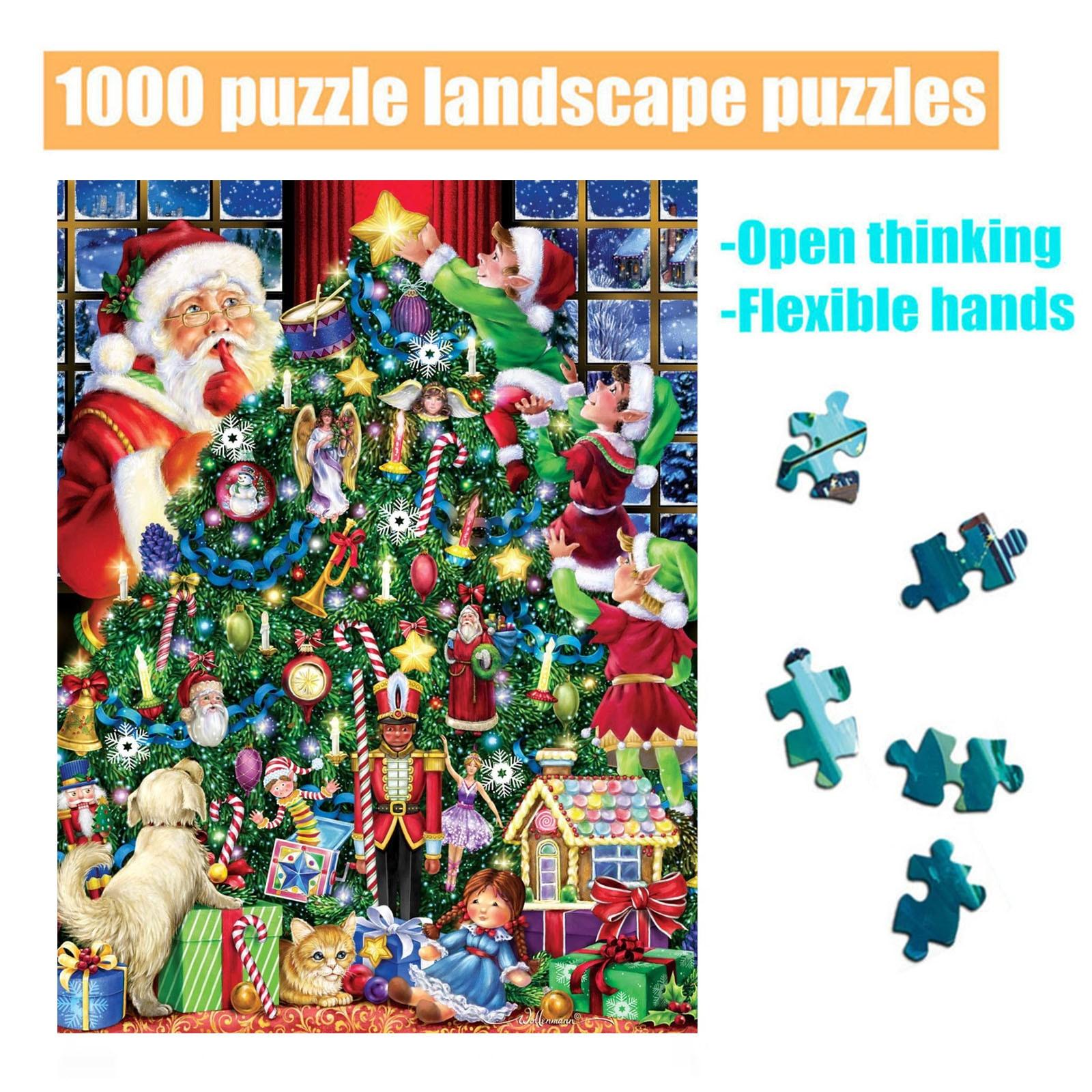 1000 grande adulto crianças educacional feriado presente padrão brinquedo natal grande quebra-cabeça difícil para adultos