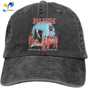 Rush Moving Pictures 1981 Tour Cowboy Cap Baseball Hat Casquette Headgear