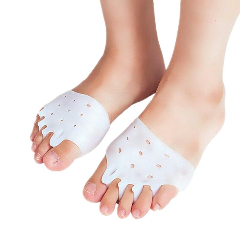 Venda quente 1 par luz respirável palmilhas almofada antepé de silicone reutilizável alívio da dor de salto alto tênis acessórios cuidados com os pés
