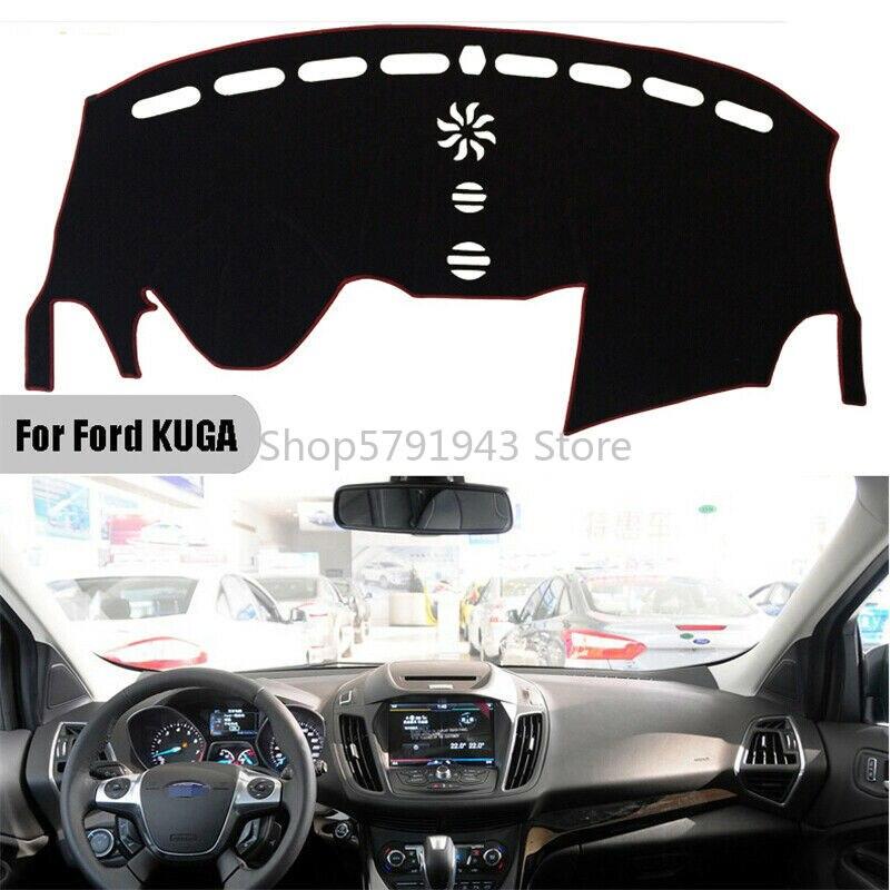Cubierta para salpicadero de coche, alfombrilla antideslizante para Ford KUGA