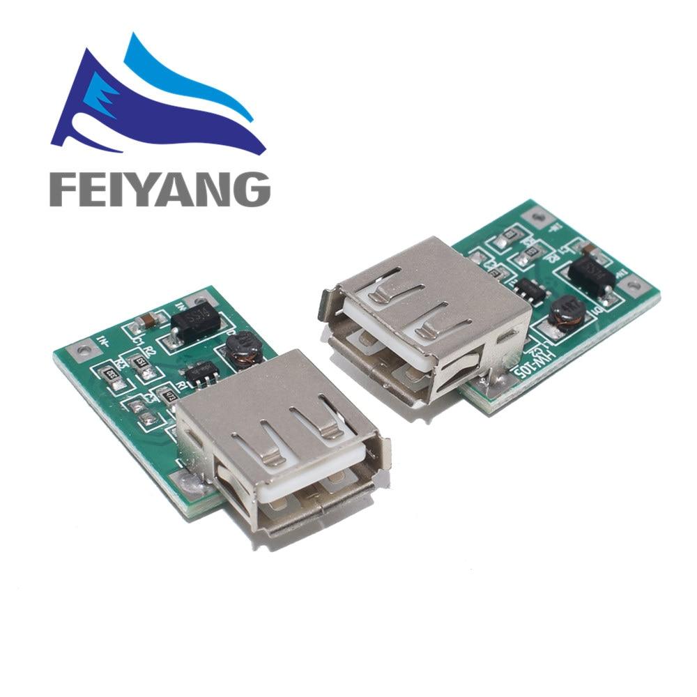 1 Uds DC 3V a 5V cargador de salida USB paso arriba módulo de alimentación Mini DC-DC convertidor de impulso