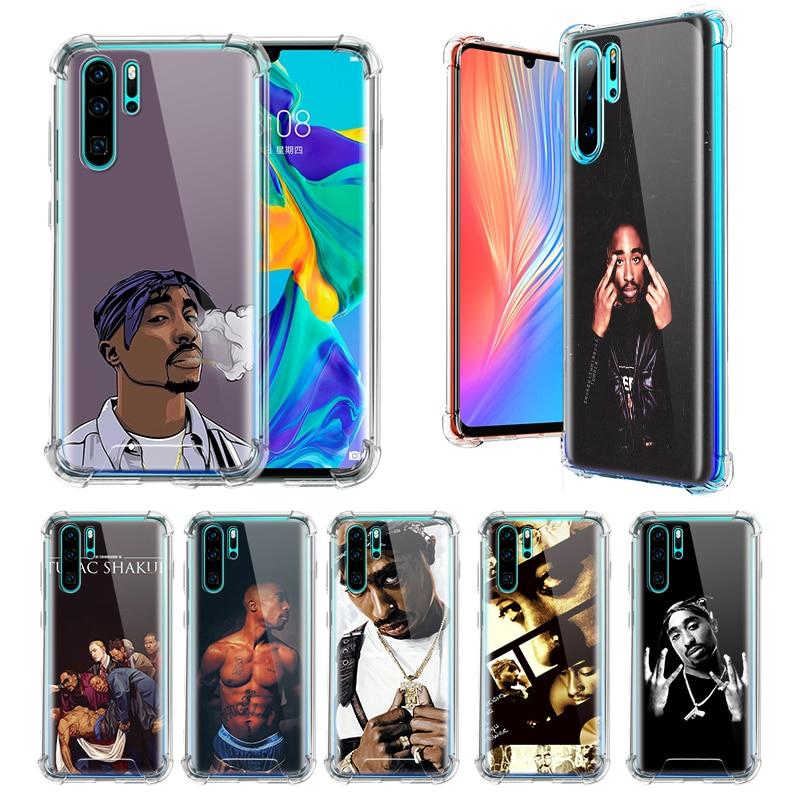 2Pac Tupac Amaru Shakur casos para Huawei P20 P40 Lite E P30 Pro P Smart Z Plus 2019 Airbag Anti-caída bolsas de TPU cubierta del teléfono