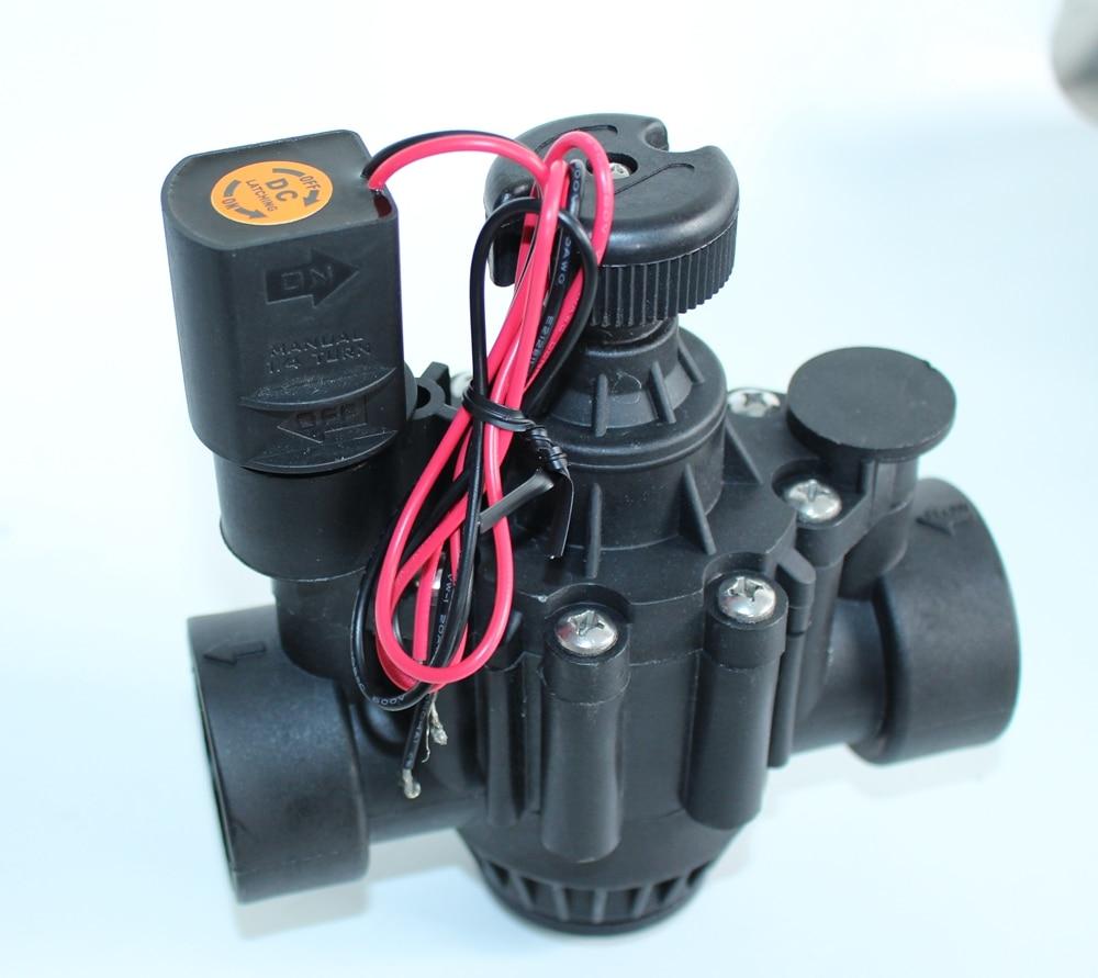"""Válvula zanchen/Rain Bird 150P en línea/ángulo con Control de flujo 1-1/2 """"9 v DC, sin enclavamiento"""