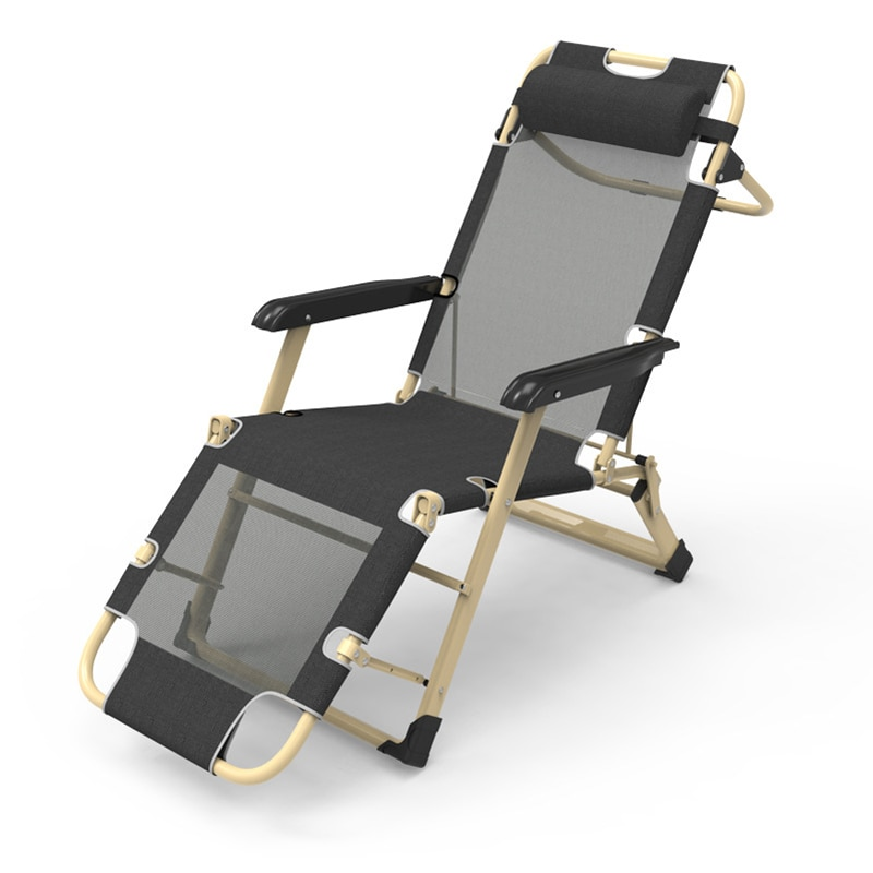 Folding Lounge Chair Lunch Break Office Lazy Back Easy Chair Outdoor Beach...