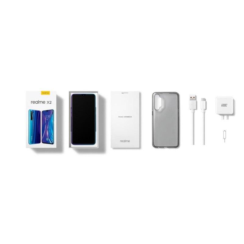 Фото5 - Оригинал Realme X2 8 Гб 128 ГБ 30 Вт быстрое зарядное устройство телефон мобильный телефон Snapdragon 730G 64-мегапиксельная четырехъядерная камера 6,4''