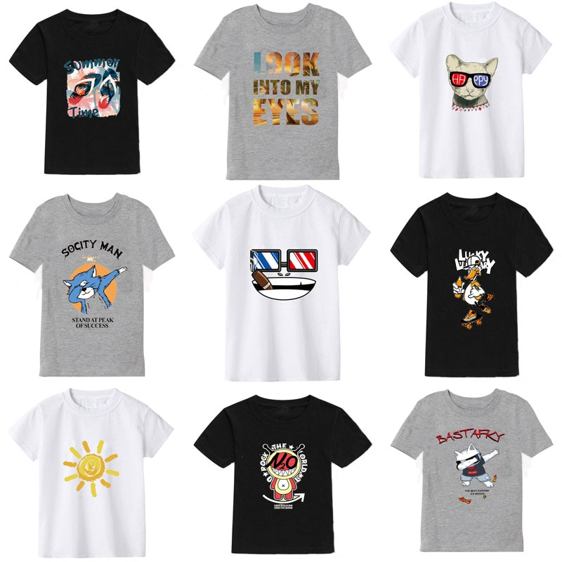 2021 new color cartoon printing children's t-shirt boys t-shirt kids t-shirt girls t-shirt  children clothes baby boy t-shirt 2020 new summer boys t shirt girls t shirt girls t shirt cotton children s t shirt boys t shirt children s t shirt boys clothes