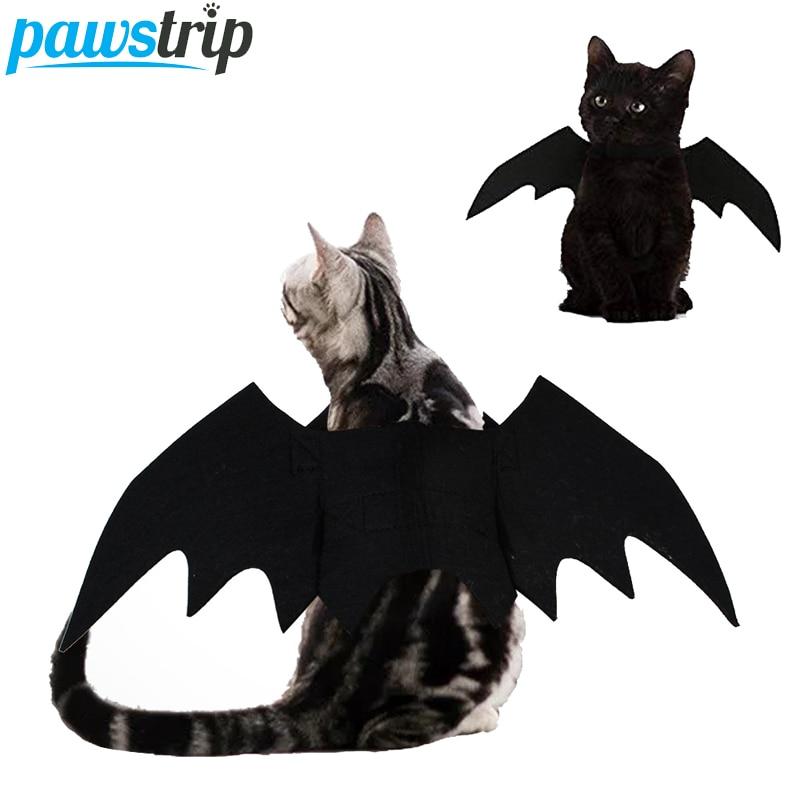 Mascota Halloween perro disfraces alas de murciélago gato disfraz vampiro negro elegante vestido para fiesta perro Cosplay ropa atuendo suministros para mascotas