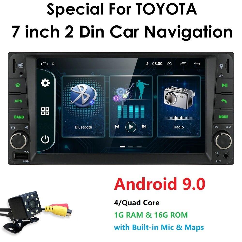 Reproductor multimedia para coche con 2 din Android 9,0 para Toyota Hilux VIOS Camry antiguo Prado RAV4 Prado 2003-2008, reproductor de dvd para coche con 8 ledes gratis
