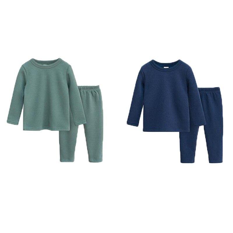 Kinder Winter Kleidung Baby baumwolle Pyjamas Junge Warme Kleidung Kinder outfits Mädchen Hause Schlafen Pajam Casual Anzug Für 2 zu 5 Jahre
