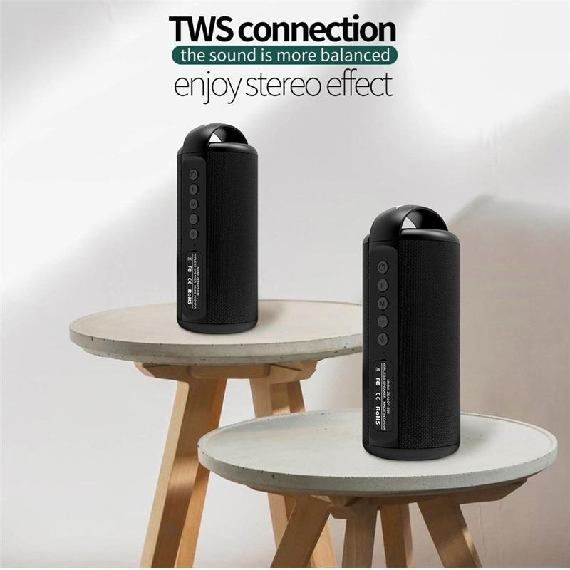 ZEALOT S36 Altavoz Bluetooth portátil al aire libre Mini columna inalámbrica 3D 10W ESTÉREO música Surround compatibilidad con FM TFCard Ba