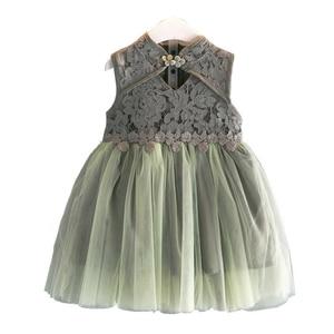 Cute Girls Dress 2020 Children's Wear Summer New Lace Princess Dress Little Girl Birthday Party Costume Kids Christmas Clothing