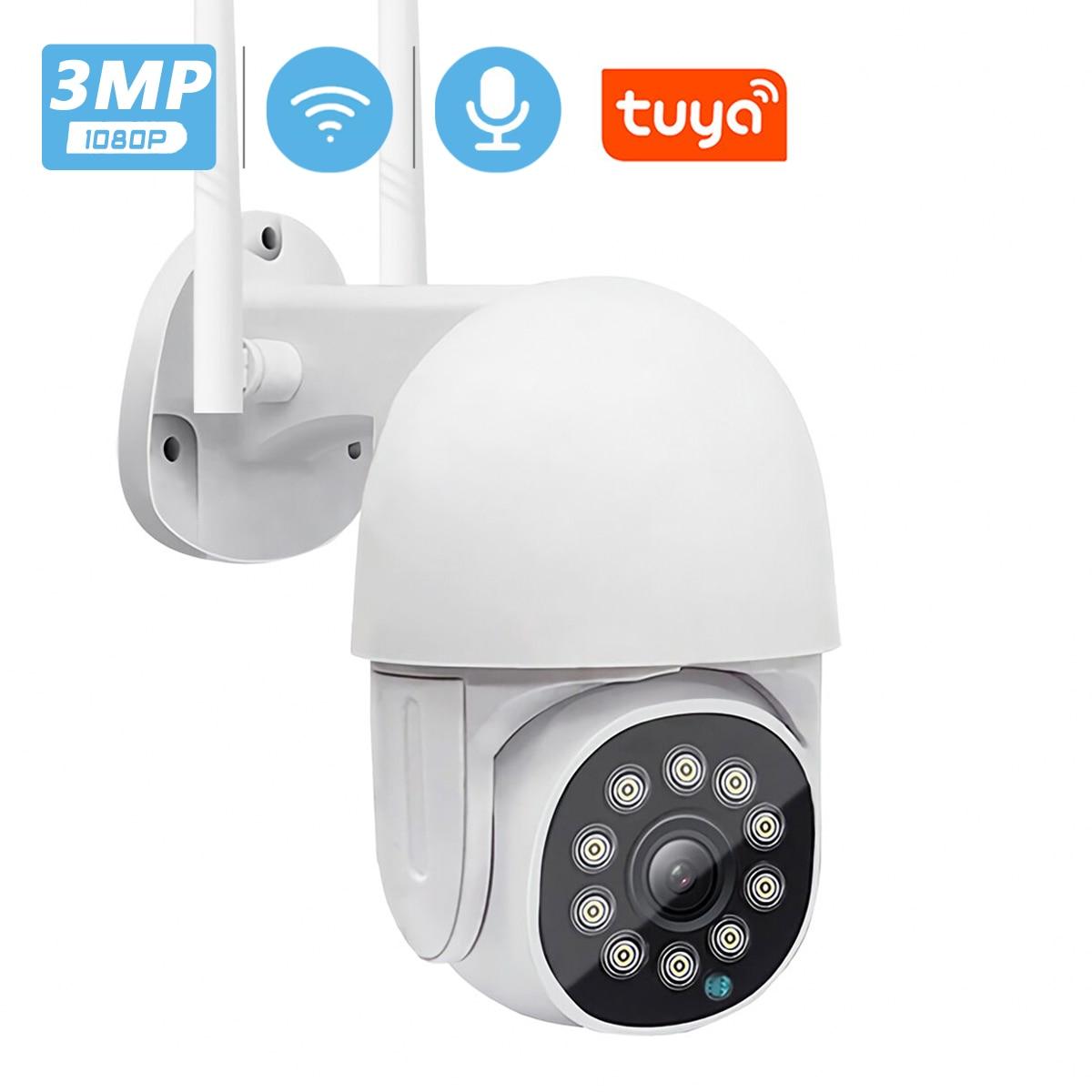 3MP HD Tuya умная домашняя IP камера 4x Zoom AI человеческая Автоматическая отслеживающая PTZ камера IR/Цветная камера ночного видения видео наблю…