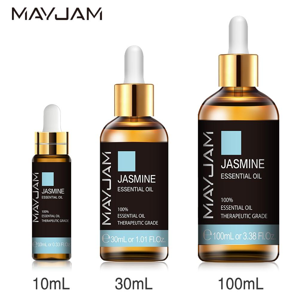 10ml 30ml 100ml with Dropper Jasmine Lavender Eucalyptus Mint Vanilla Pure Natural Essential Oils Yl