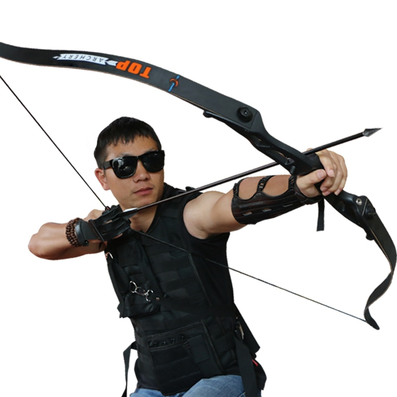 toparchery Archery Bow 56Inch 30-50lbs Outdoor Shooting Recurve Bow for Right-handed Powerful Take-down Hunting Bow with Bow Bag