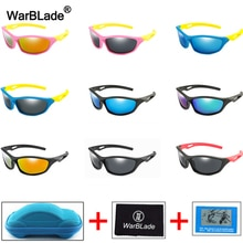 WarBlade 2020 New Kids Sunglasses Polarized Children Sun Glasses Boys Girl UV400 Goggles Silicone Ey