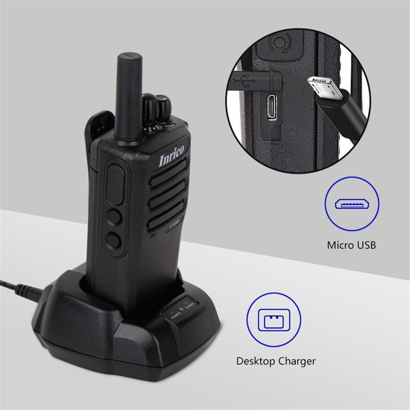 Inrico T199 Cheapest walkie talkie app 3G pocket fm network poc radio smooth wireless intercom long range
