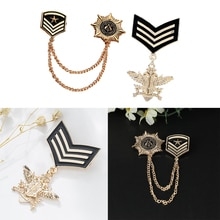 2 pièces Vintage étoile uniforme broche Badge prix marine Style médaille chaîne cadeau