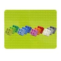 big bricks base plate 1632 dots 5125 5cm baseplate building blocks floor toys diy compatible green board childrens paradise