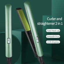 New Style Hair Straightener with Ceramic LCD Display Dual-use for Quick Heat Straightening and Curly