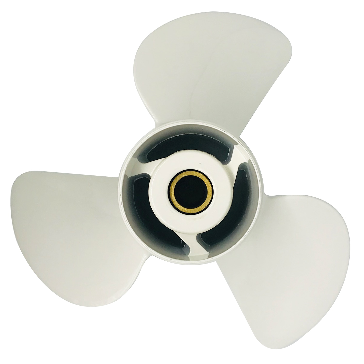 Boat propeller suit for Yamaha 14x19 aluminum prop 50-130HP 3 blade RH 15 tooth enlarge