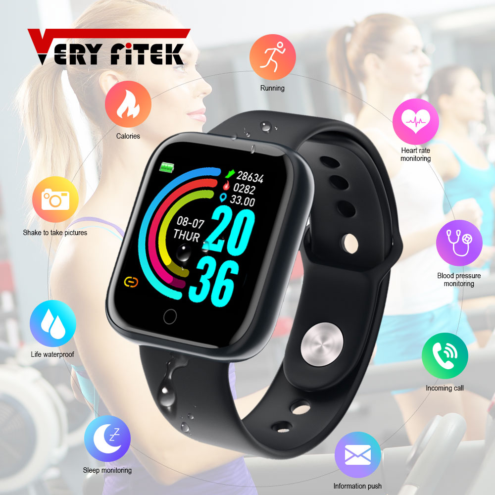 D20 Pro Smart Watch Y68 Bluetooth Fitness Tracker Sports Watch Heart Rate Monitor Blood Pressure Smart Bracelet for Android IOS