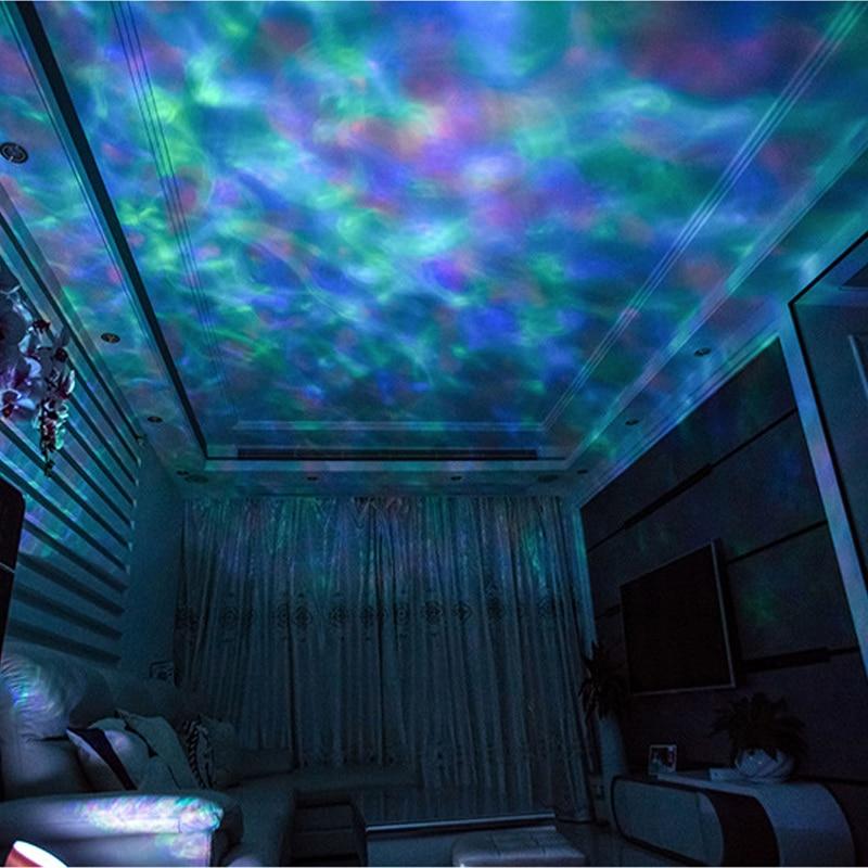 ZK20 Ozean Welle Projektor 12 LED Fernbedienung 7 Farbe TFCeiling Stimmung Lampe mit Bulit-in Lautsprecher Musik Player nacht Licht